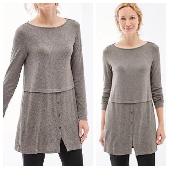 122d343ea2b J. Jill Tops - J. Jill Wearever Mixed Media Tunic Sweater